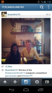 Aheli, of Purkay Labs, and Caroline, of Milldam Public Relations, celebrating their win! Thank you Data Center World!