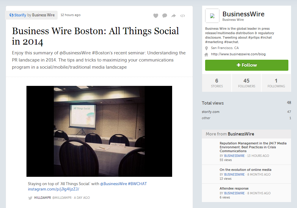 "Business Wire Boston Features Milldam Public Relations for Response to ""All Things Social"""