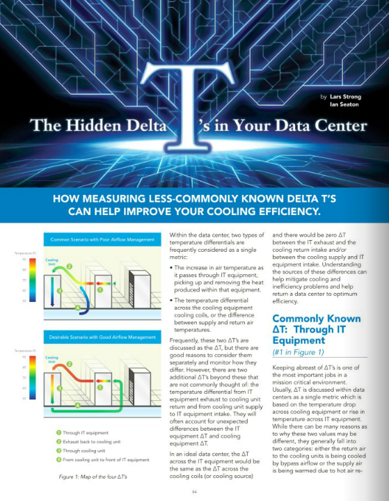 Upsite Technologies Publishes on Hidden Delta-T's in Fall Issue of 7×24 Magazine