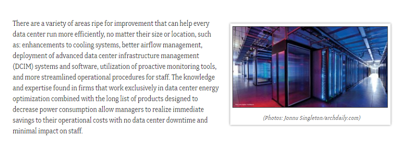 """Best Practices For Data Center Management"" Piece by Future Resource Engineering's Tim Hirschenhofer is Featured by Facility Executive"