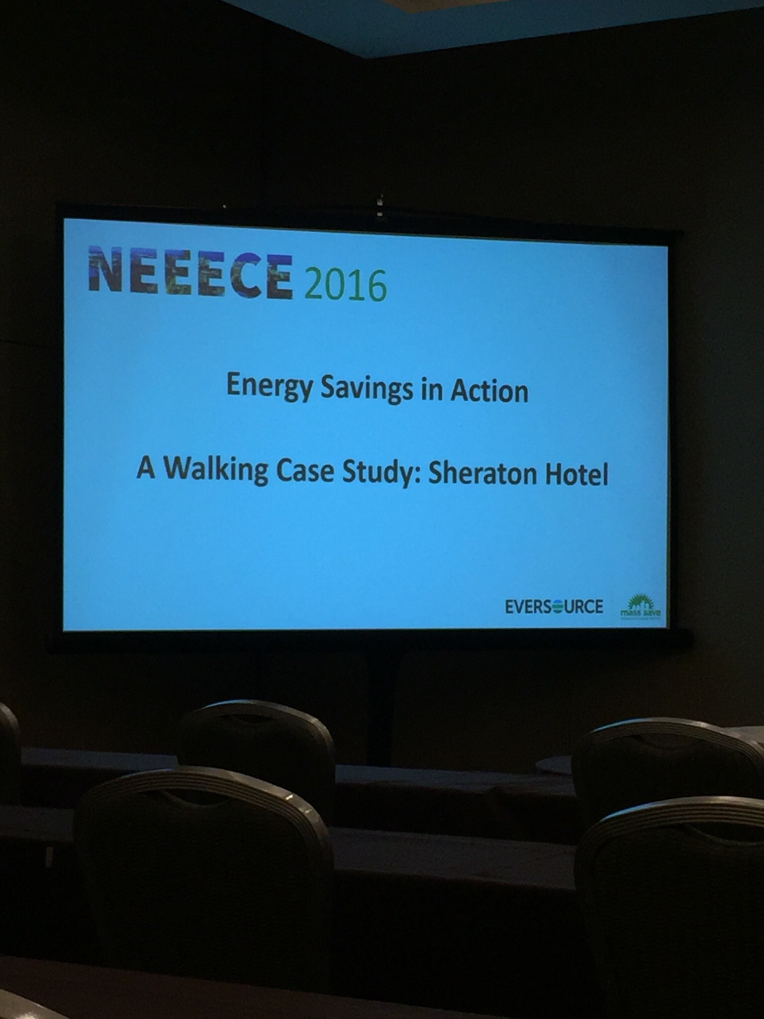 Caroline and Samantha took advantage of a unique opportunity at this year's event - a walking case study! The informative session showed tour attendees various energy efficiency upgrades implemented in the Sheraton Hotel Boston by seeing each project in person.