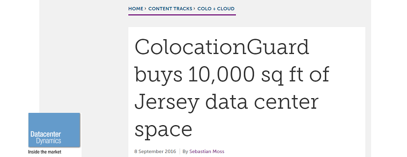 Datacenter Dynamics Features Piece on ColocationGuard's New Jersey Expansion