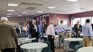 Massachusetts Commissioner of DOER speaks during Bluestone showcase event at Mack Technologies